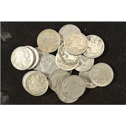 20 ASSORTED FULL DATE BUFFALO NICKELS