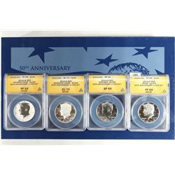 ANACS SLABBED 2014-50TH ANNIVERSARY KENNEDY