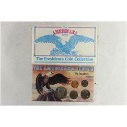 "THE AMERICANA SERIES ""THE PRESIDENTS"" CONTAINS:"