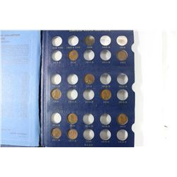PARTIAL 1909-1940 LINCOLN CENT ALBUM 51 COINS IN