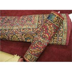 Large Karastan Worsted Yarn all Wool face rug measuring 14' x 10'  and a smaller matching rug both i