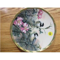 """COLLECTOR PLATE (#B08) """"ROSE MORNING"""" *BY C. MCCLUNG* (LENOX)"""