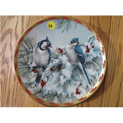 """COLLECTOR PLATE (#B5150) """"WINTER SONG"""" *BY C. MCCLUNG* (LENOX)"""