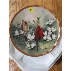 """COLLECTOR PLATE (#A6837) """"SPRING COURTSHIP"""" *BY C. MCCLUNG* (LENOX)"""