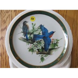 """COLLECTOR PLATE (#D1184) """"BLUEBIRDS"""" *BY ROGER TORY PETERSON* (DANBURY MINT)"""