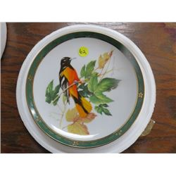 "COLLECTOR PLATE (#D1184) ""BALTIMORE ORIOLE"" *BY ROGER TORY PETERSON* (DANBURY MINT)"