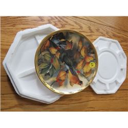 """COLLECTOR PLATE (#F8117) """"AMONG THE BERRIES"""" *BY C. MCCLUNG* (LENOX)"""
