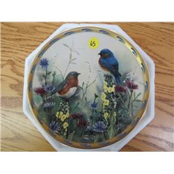 """COLLECTOR PLATE (#A0423) """"SUMMER INTERLUDE"""" *BY C. MCCLUNG* (LENOX) *24K TRIM*"""