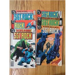 LOT OF 6 COMIC BOOKS (SGT. ROCK) *FROM THE 1980s*