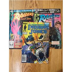 LOT OF 3 COMIC BOOKS (RAIDERS OF THE LOST ARK & INDIANA JONES) *FROM THE 1980s*