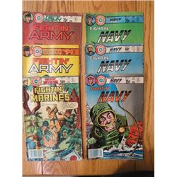 LOT OF 6 COMIC BOOKS (FIGHTIN' ARMY, FIGHTIN' MARINES) *FROM THE 1980s*