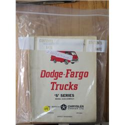 SERVICE MANUALS (DODGE FARGO TRUCKS) *QTY 2*
