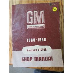 SHOP MANUAL (GM VAUXHALL VICTOR) *1968-69*
