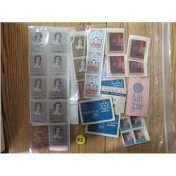 LOT OF CNDN STAMPS AND CANADA POST PKGS