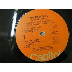 "RECORDS (THE BEATTLES) ""RUBBER SOUL & MEET THE BEATLES"" *CAPITOL RECORD*"