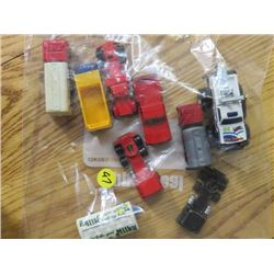 TOY TRUCKS (SEMI, TOW, ETC) *QTY 9*