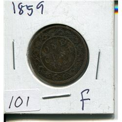 1859 CNDN LARGE 1 CENT PC