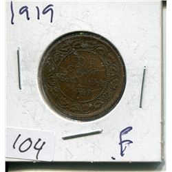 1919 CNDN LARGE 1 CENT PC