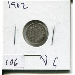 1902 CNDN SMALL 5 CENT PC *SILVER*
