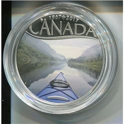 2017 CNDN $10 COIN (FINE SILVER) *CANADA'S 150TH KAYAKING ON THE RIVER*
