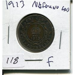1913 NFLD LARGE 1 CENT PC