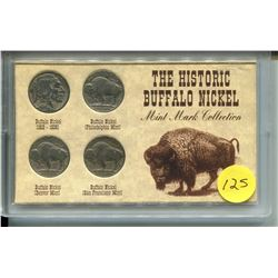 FOUR AMERICAN *BUFFALO NICKELS* (1913 - 1939)