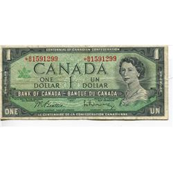 1967 CNDN $1 BANKNOTE *REPLACEMENT, RARE*