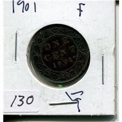 1901 CNDN LARGE 1 CENT PC