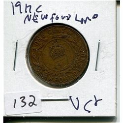 1917C NFLD LARGE 1 CENT PC