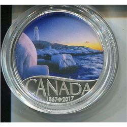 2017 CNDN $10 COIN (FINE SILVER) *CANADA'S 150TH LIGHTHOUSE AT PEGGY'S COVE*