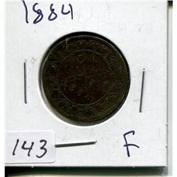 1884 CNDN LARGE 1 CENT PC