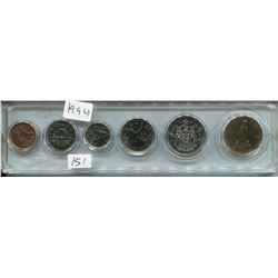 1994 CNDN SET OF COINS (6 PCS, PENNY TO DOLLAR)