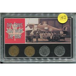 4 CNDN NICKELS *THE COINS THAT WON THE WAR* (1942 - 1945)