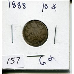 1888 CNDN 10 CENT PC (SILVER)