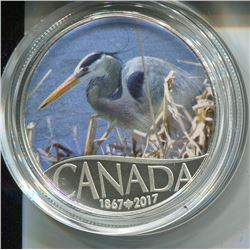 2017 CNDN $10 COIN (FINE SILVER) *CANADA'S 150TH GREAT BLUE HERON*