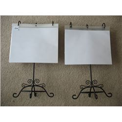 PAIR OF FLIP FOLDER DISPLAY STANDS (W/FOLDERS)