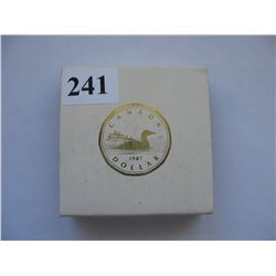 1987 PROOF DOLLAR COIN (IN CASE) *LOON*