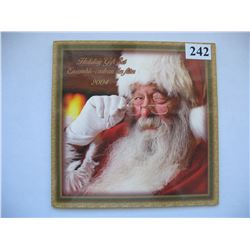 "2004 CANADIAN MINT SET (CHRISTMAS) *SPECIAL COLOURED QUARTER* ""SANTA"""