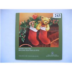 "2005 CANADIAN MINT SET (CHRISTMAS) *SPECIAL COLOURED QUARTER* ""STOCKINGS"""
