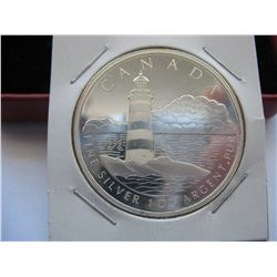 2004 CANADIAN $20  SILVER COIN (SAMBRO ISLAND LIGHTHOUSE) *1 OZ SILVER* (NO CAPSULE)