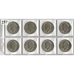 LOT OF 8 USA  DOLLARS (EISENHOWER) *DIFFERENT DATES/MINT MARKS*