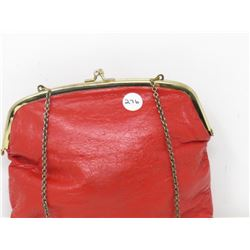 LADIES SMALL LEATHER CLUTCH (ETRA) *VINTAGE*