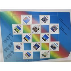 SHEET OF 12 STAMPS 125th ANNIVERSARY OF CANADA) *WITH FOLDER*