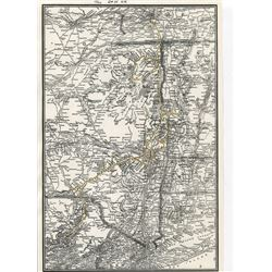 MAPS OF NORTH EAST U.S. & THE NEW YORK CENTRAL SYSTEM *REPRODUCTION* *LAMINATED*