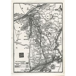 MAP OF CENTRAL VERMONT & RUTLAND RAILWAYS (LAMINATED)