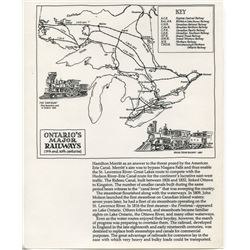 MAPS OF VICTORIA RAILWAY (1881, *LAMINATED*) & MAP OF ONTARIO