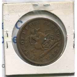 1850 BANK OF UPPER CANADA PENNY TOKEN *1850*