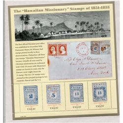 SHEET OF STAMPS (USA HAWAIIAN MISSIONARIES SOUVENIR)