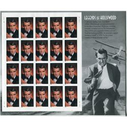 FULL SHEET OF STAMPS (U.S.A. LEGENDS OF HOLLYWOOD) 'CARY GRANT', *UNOPENED*