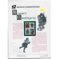 BLOCK OF 4 STAMPS (U.S.A) NO 471 *CHRISTMAS 1995*
